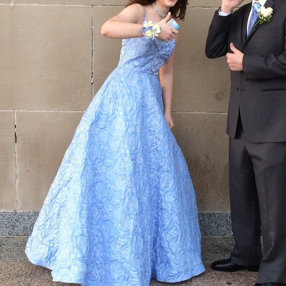 camille la vie Dresses | Beautiful Blue Ball Gown Prom Dress Formal ...